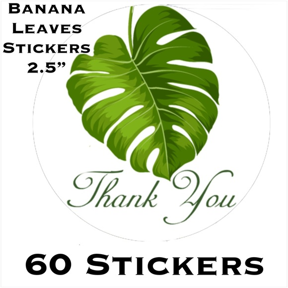 "Other - 60 2.5"" Banana Leaves Stickers PRICE IS FIRM"